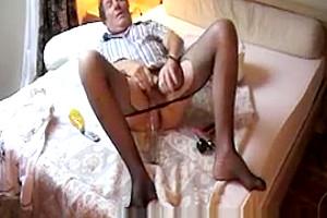 Straight Transvestite Sounding Urethral Lingerie Pantyhose Anal Toy 13